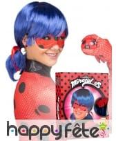 Masque et perruque de Ladybug pour femme, coffret