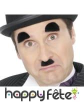 Moustaches et sourcils de charlie chaplin