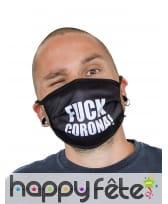 Masque en tissu Fuck corona
