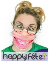 Masque en tissu sourire appareil dentaire