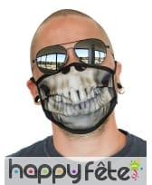Masque en tissus squelette pour adulte