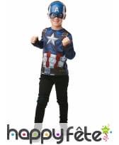 Masque et T-shirt de Captain America pour enfant, image 1