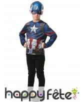 Masque et T-shirt de Captain America pour enfant