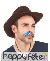 Moustache Etats-Unis adhésive