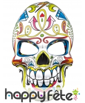 Masque facial blanc dia de los muertos pour adulte, image 1