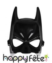 Masque facial de Batman noir, adulte