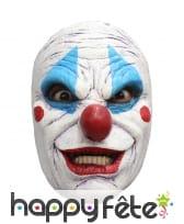 Masque facial de clown tueur en latex