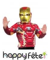 Masque facial de Iron Man pour enfant