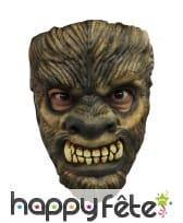 Masque facial de loup garou, en latex