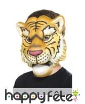 Masque facial de tigre pour enfant, en eva