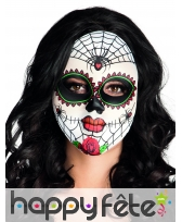 Masque facial Dia de los muertos et araignées