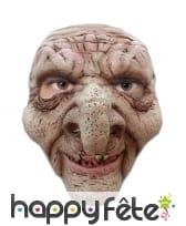 Masque faciale de vieil homme horrible