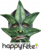 Masque feuille de cannabis en latex souple