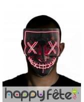 Masque facial noir led pour adulte, image 1