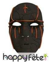 Masque facial noir lumineux pour adulte, image 1