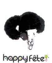 Menottes froufrous noir
