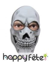 Masque facial tête de mort en latex