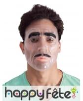 Masque facial transparent pour homme
