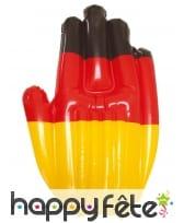 Main gonflable drapeau Allemagne, 30 cm