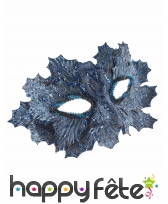 Masque grande feuille recouvert d'éclats bleus, image 1