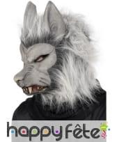Masque gris loup garou souple