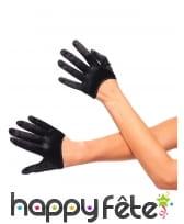 Mini gants noirs pour femme