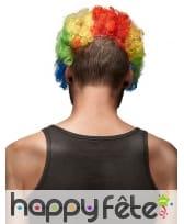 Masque horrible clown avec cheveux multicolores, image 1
