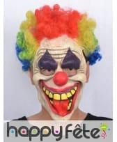 Masque horrible clown avec cheveux multicolores, image 2