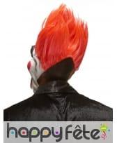 Masque horrible clown avec cheveux rouges, image 1