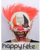 Masque horrible clown avec cheveux rouges, image 2