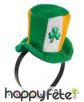 Mini haut de forme Irlandais avec trèfle