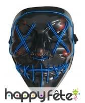 Masque Halloween led bleu lumineux, adulte, image 1
