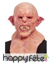 Masque intégral d'Orc chauve avec cou, pour adulte