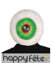 Masque intégral d'un oeil géant injecté de sang