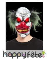 Masque intégral de clown tueur avec yeux lumineux, image 1