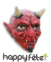 Masque intégral de diable en latex