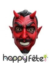 Masque intégral de diable rouge moustachu