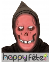 Masque intégral de la mort rouge phosphorescent