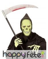 Masque intégral de la mort vert phosphorescent, image 1