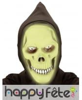 Masque intégral de la mort vert phosphorescent