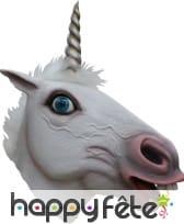 Masque intégral de licorne blanche, image 1