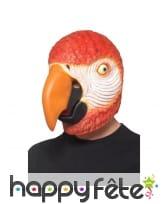 Masque intégral de perroquet, en latex