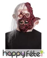 Masque intégral de zombie visage décousu, adulte, image 1