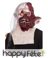 Masque intégral de zombie visage décousu, adulte