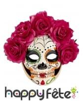 Masque Jours des morts avec roses rouges