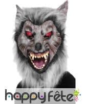 Masque loup avec cheveux