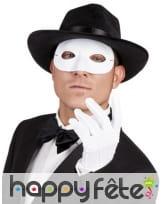 Masque loup blanc uni pour adulte