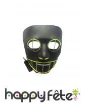 Masque LED de chat sournois pour adulte