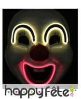 Masque LED de clown sourcils et bouche lumineux, image 1