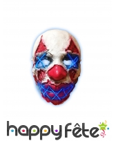 Masque LED de clown terrifiant pour adulte